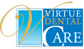 Dr. William E. Virtue DDS, NMD, at Virtue Dental Care site logo