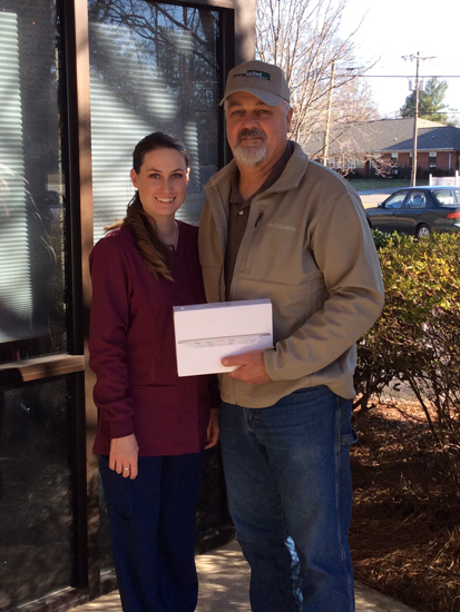 Daryl Renegar 4th winner - iPad giveaway image